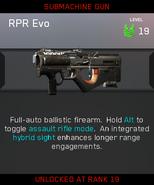 RPR Evo Zombies Unlock Card IW