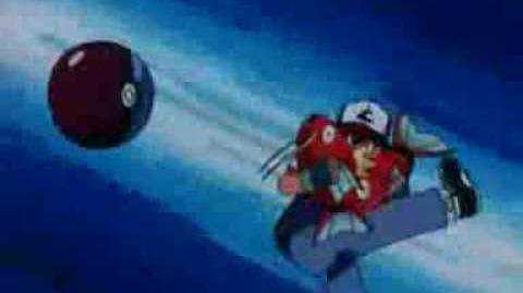 Ash kick a bulbasaur's pokeball