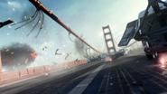Golden Gate Bridge collapsing AW