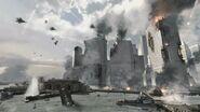 Battle for NY lower manhattan shot Hunter Killer MW3