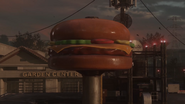 Burger Town Large Sign Infection AW
