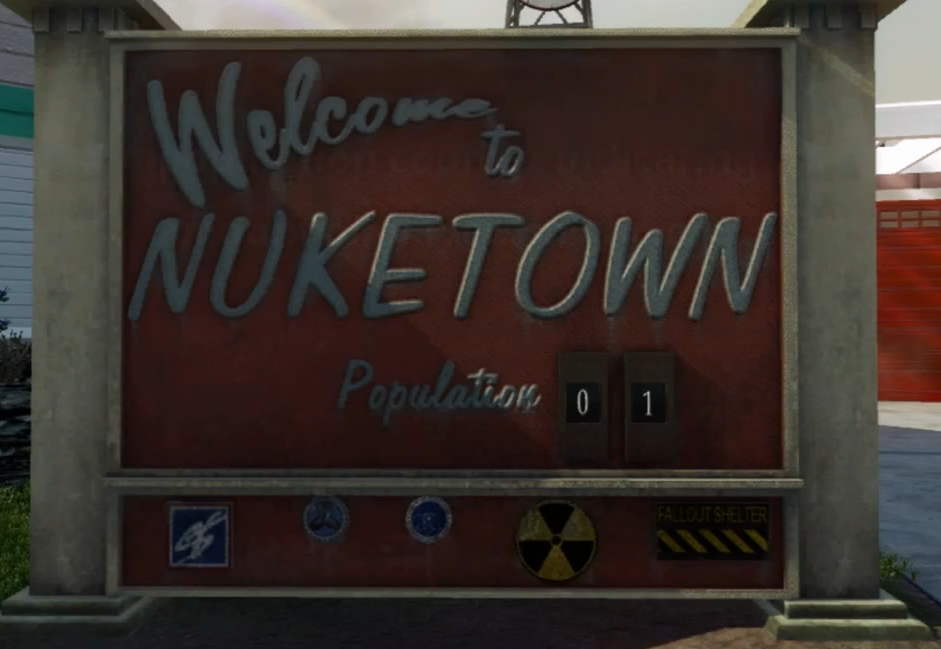 Image Nuketown Welcome Signpng Call Of Duty Wiki FANDOM - Us call sign map