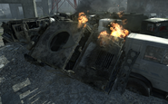 Destroyed HMMWV Interchange MW3