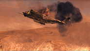 Destroyed Pave Low in Endgame MW2