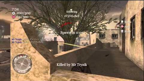 42-8 CoD2 Headquarters Straight Gameplay