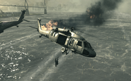 UH-60 going down Goalpost MW3