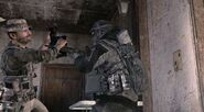 Price attacking Russian commando MW3