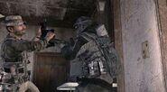 Price attacking Russian commando MW3