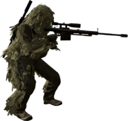 1 Ghillied sniper