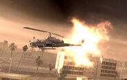 Pelayo's AH-1 Cobra being hit Shock and Awe CoD4