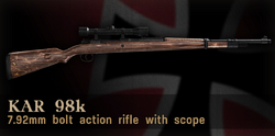 Kar98k scoped menu icon CoD3