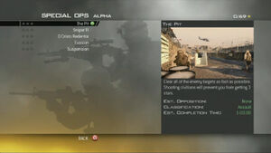 MW2 Spec Ops Menu Alpha Ops