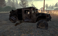 Destroyed Humvee Wasteland MW2
