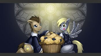 EviHard Dr Whooves Derpy Muffin