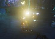Фейерверк ловушка на земле iwz