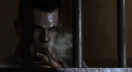 Billy Handsome smoking in cell BOII
