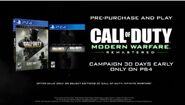Call of Duty Modern Warfare Remastered Promo