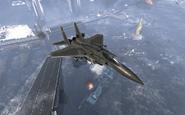 F-15 Eagle top view Hunter Killer MW3