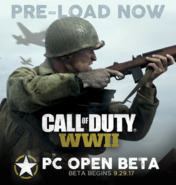 PC Open Beta Preload Promo WWII