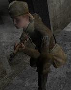 Crouching Soviet CoD2