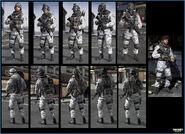 Russian Arctic troop models MW3