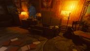 Gniew starozytnych demon czaszka pomieszczenia mieszkalne