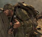 Marine taking cover BO