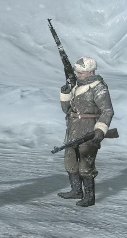 Yared holding Kravchenko's rifle BO