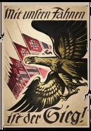 Poster Mit unfern Fahnen CoD1