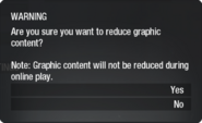 Graphic Content Filter menu BO