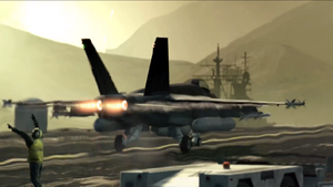 FA-18E Super Hornet taking off CoDG