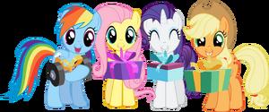 Applejack birthday fluttershy rainbow dash rarity vector