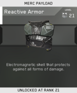 Reactive Armor Unlock Card IW