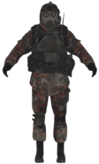 VDV gasmask soldier model MW2