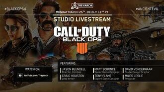 Official Call of Duty® Black Ops 4 – Studio Livestream March 26 Update