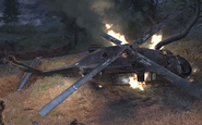 Crashed Blackhawk in Hunted