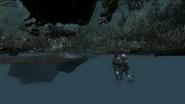 Безголовый Алекс на месте своего падения