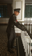 Gestapo soldier balcony WWII
