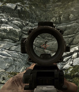 Aiming down the ACOG Scope CODG