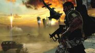 Woods holding MP5K BO