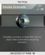 Smoke Grenade Unlock Card IW
