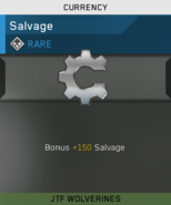 Rare Salvage Unlock Card IW