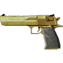 Weapon desert eagle gold