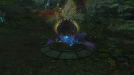 Nasiono wzmocniona niebieska roslina