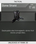 Dome Shield Unlock Card IW