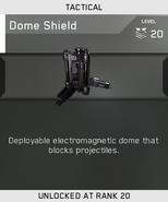 Dome Shield Unlock Card IW