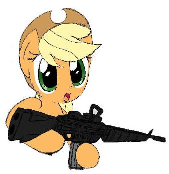 Applejack with M16