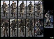 Russian woodland troop models MW3