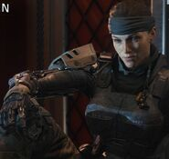 Female Player resting Campaign loading screen BO3