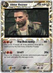 Personal Seijana Viktor Reznov pokemon card